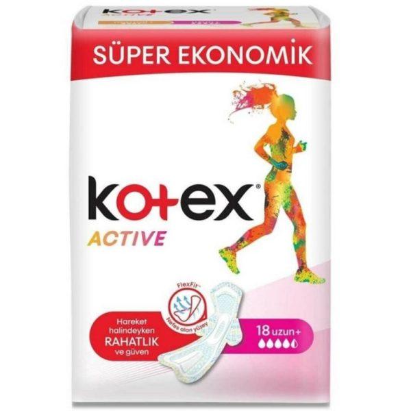 نوار بهداشتی کوتکس اکتیو بزرگ بلند پلاس اصل اصلی اورجینال kotex Active 18 فروشگاه شکوفا آنلاین منطقه آزاد انزلی Shokoufa Online Tejarat Free Zone of Anzali