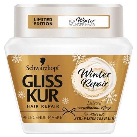 ماسک مو گلیس گلایس جلیس جلایس ترمیم کننده مو موی موهای آسیب اسیب دیده خشک ریپیر گولد گلد خشک آسیب دیده دمج اصل اصلی اورجینال ترک ترکیه آلمان المان آلمانی المانی Gliss Kur 300 Winter Hair Repair