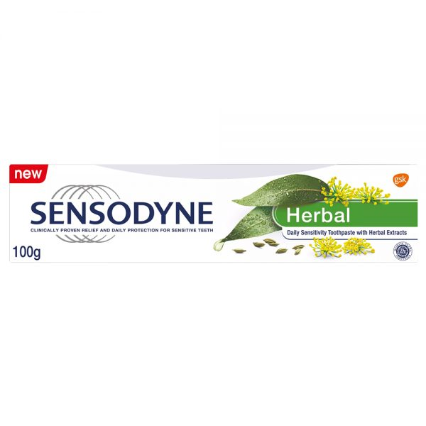 خمیردندان خمیر دندان سنسوداین هربال گیاهی اصل اصلی اورجینال Sensodyne Herbal 100 فروشگاه شکوفا آنلاین منطقه آزاد انزلی Shokoufa Online Tejarat Free Zone of Anzali