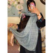 سربی روشن فروشگاه فروش خرید آنلاین انلاین اینترنتی شال روسری نخی پوشاک زنانه دخترانه رشت گیلان Scarf Shawl