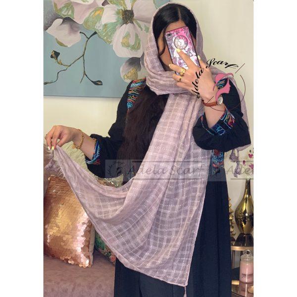 بنفش کدر فروشگاه فروش خرید آنلاین انلاین اینترنتی شال روسری نخی پوشاک زنانه دخترانه رشت گیلان Scarf Shawl