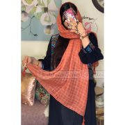 حنایی روشن فروشگاه فروش خرید آنلاین انلاین اینترنتی شال روسری نخی پوشاک زنانه دخترانه رشت گیلان Scarf Shawl