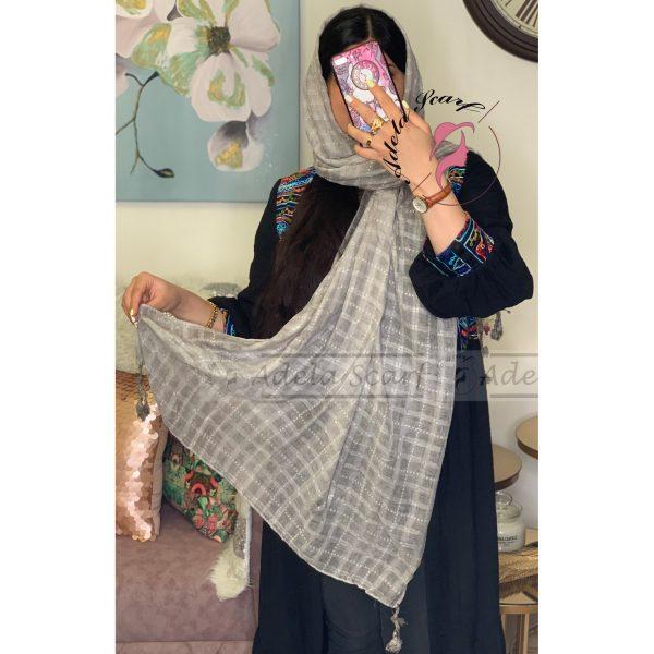 خاکستری مات فروشگاه فروش خرید آنلاین انلاین اینترنتی شال روسری نخی پوشاک زنانه دخترانه رشت گیلان Scarf Shawl