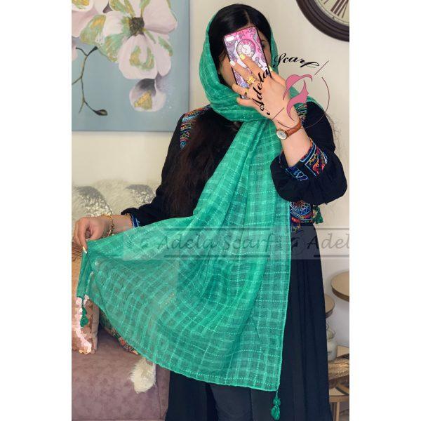یشمی سیر فروشگاه فروش خرید آنلاین انلاین اینترنتی شال روسری نخی پوشاک زنانه دخترانه رشت گیلان Scarf Shawl