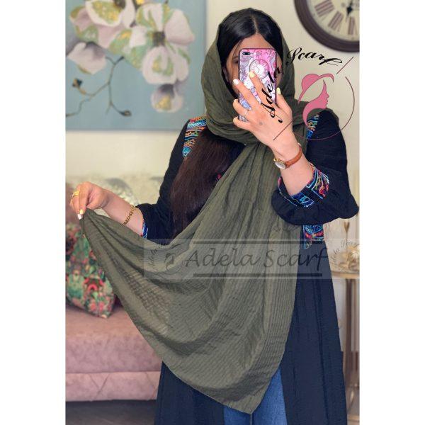 زیتونی سیر فروشگاه فروش خرید آنلاین انلاین اینترنتی شال روسری نخی پوشاک زنانه دخترانه رشت گیلان Scarf Shawl