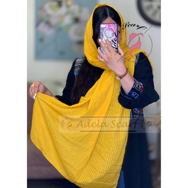 زرد فروشگاه فروش خرید آنلاین انلاین اینترنتی شال روسری نخی پوشاک زنانه دخترانه رشت گیلان Scarf Shawl