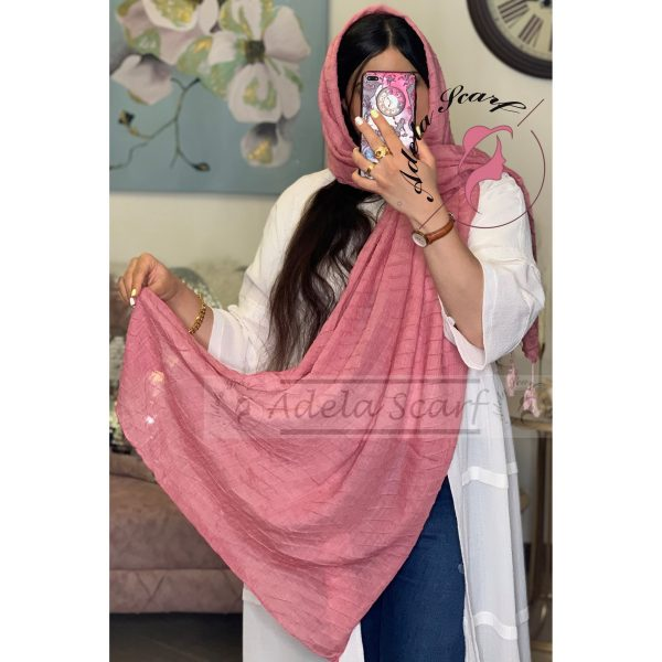 صورتی فروشگاه فروش خرید آنلاین انلاین اینترنتی شال روسری نخی پوشاک زنانه دخترانه رشت گیلان Scarf Shawl