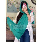 سبز خزه ای فروشگاه فروش خرید آنلاین انلاین اینترنتی شال روسری نخی پوشاک زنانه دخترانه رشت گیلان Scarf Shawl