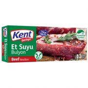 عصاره مکمل غذا غذایی گوشت قرمز گاو کنت اصل اصلی اورجینال خارجی ترک ترکیه Kent Boringer Beef Bouillon Et Suyu Bulyon 12 120 10